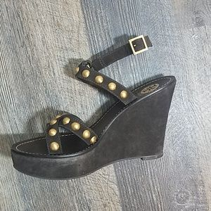 Tory burch Wedge Suede Sandals